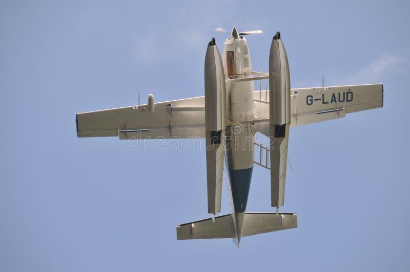 Seaplane over Loch Lomond Alexandria Scotland stock photos