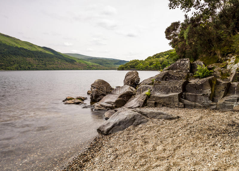 Loch Lomond sikt royaltyfria foton