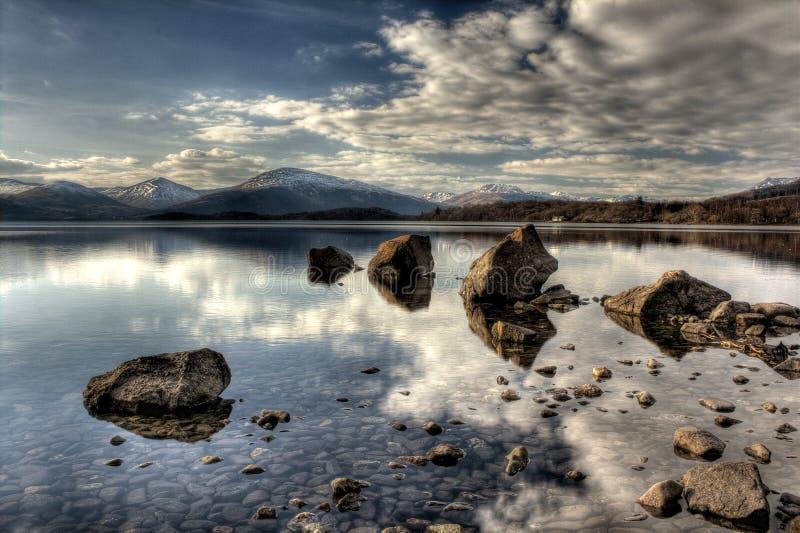 Loch Lomond trossachs royaltyfri fotografi