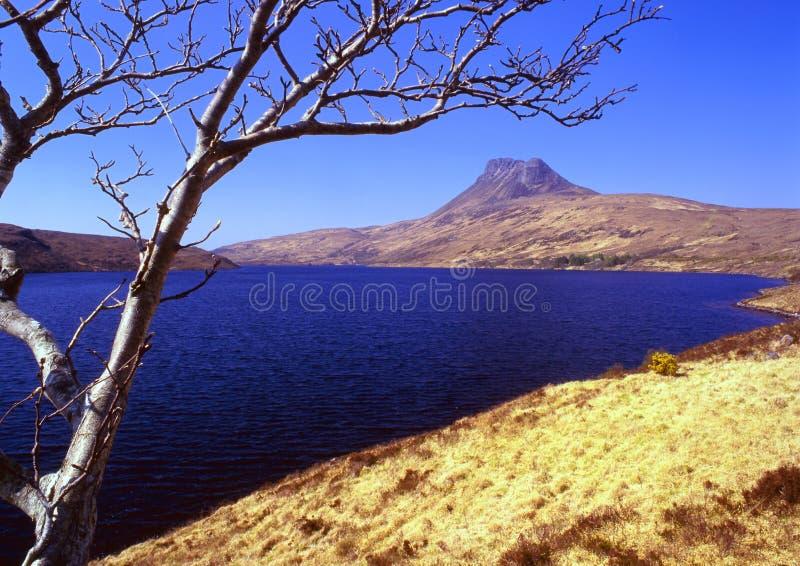 loch lurgainn pollaidh Scotland stac obrazy royalty free