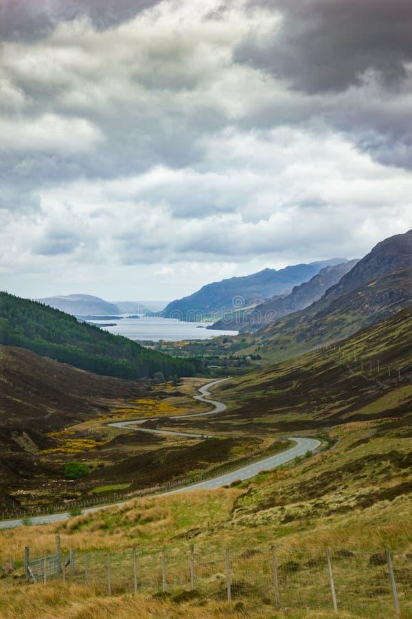 Loch Maree from Glen Docherty, Scottish highlands. stock photography