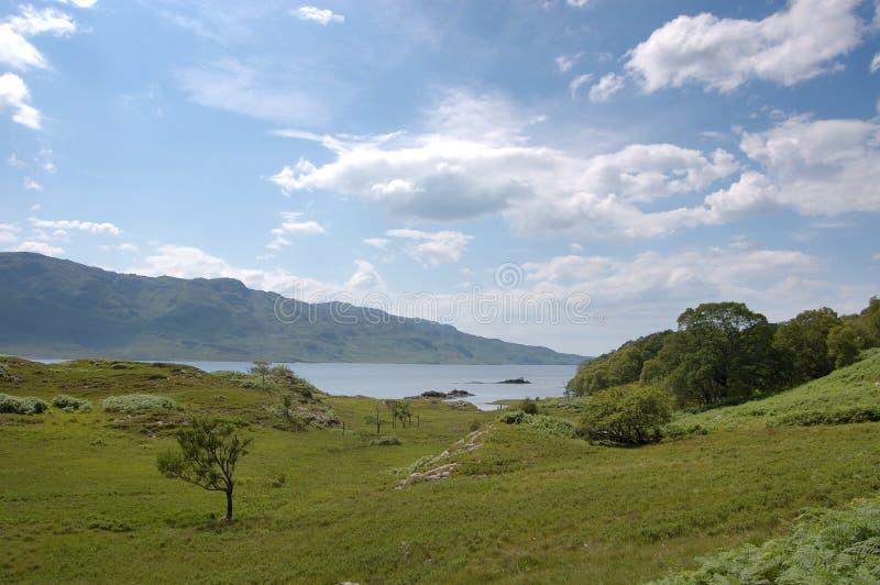 Loch Morar. A scenic view of the area around Loch Morar, Scotland stock photography