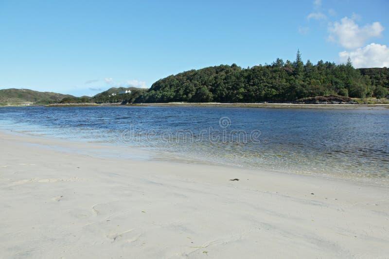 Loch Morar, in de noordwestenhooglanden van Schotland. royalty-vrije stock afbeelding