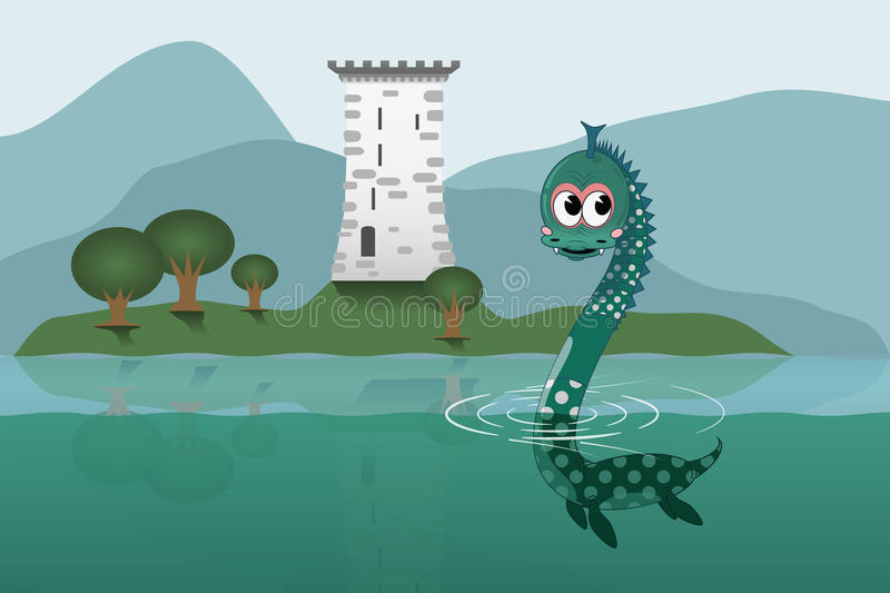 Loch Ness royalty illustrazione gratis
