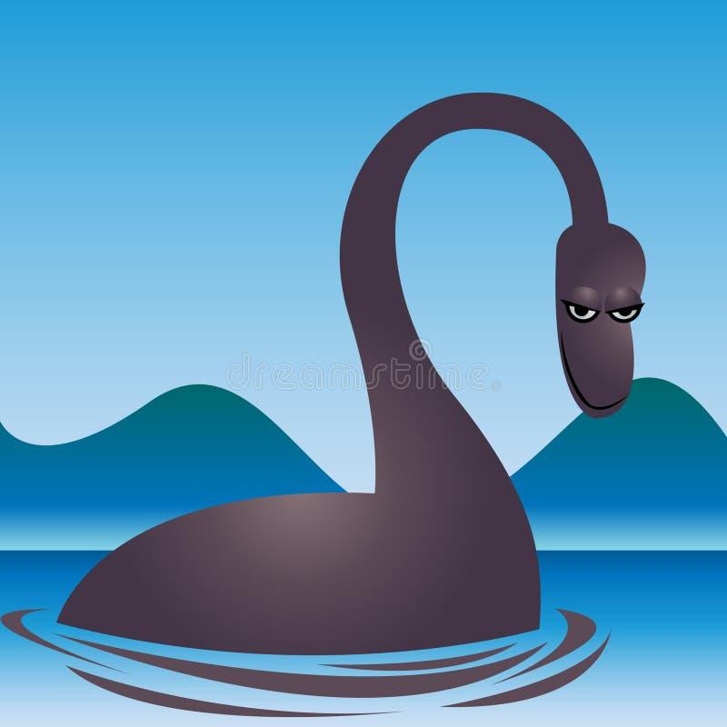 Loch Ness ilustração royalty free
