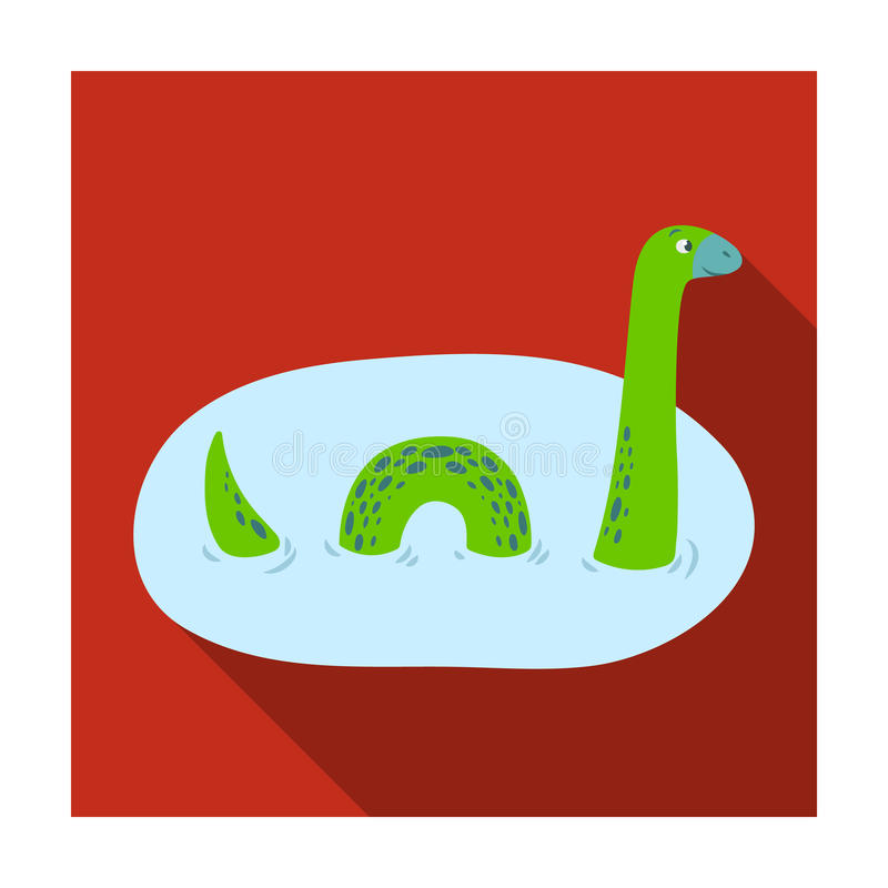 Loch Ness Monster Icon In Flat Style Isolated On White Background