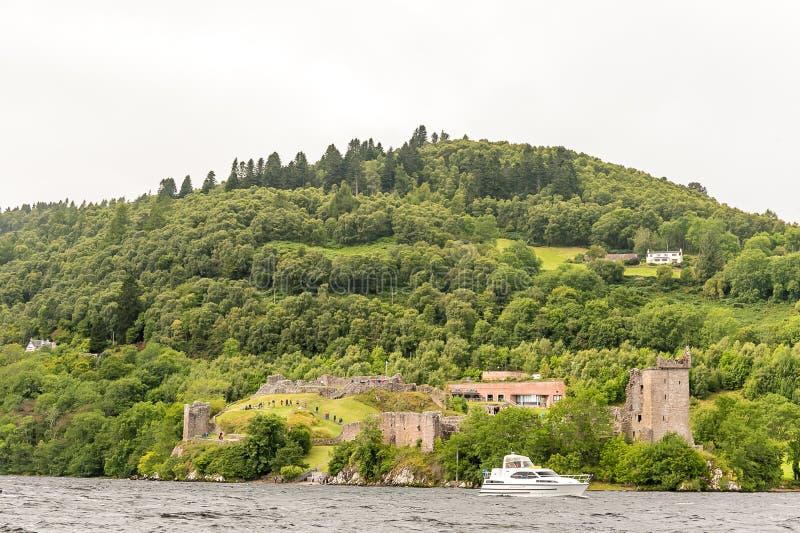 Loch Ness par temps sombre, Ecosse image libre de droits