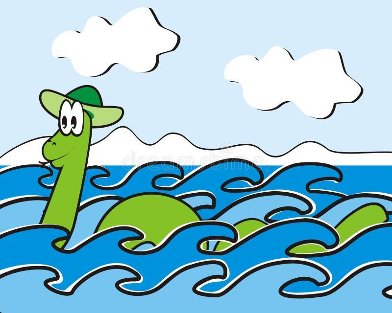 Loch Ness potwór ilustracji