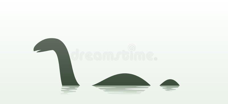 Loch Nessmonster vektor illustrationer