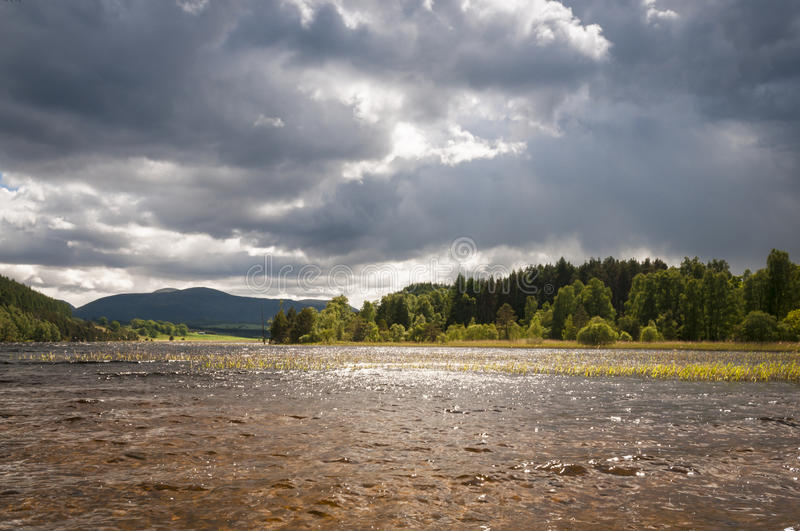 Loch Pityoulish royalty free stock photography