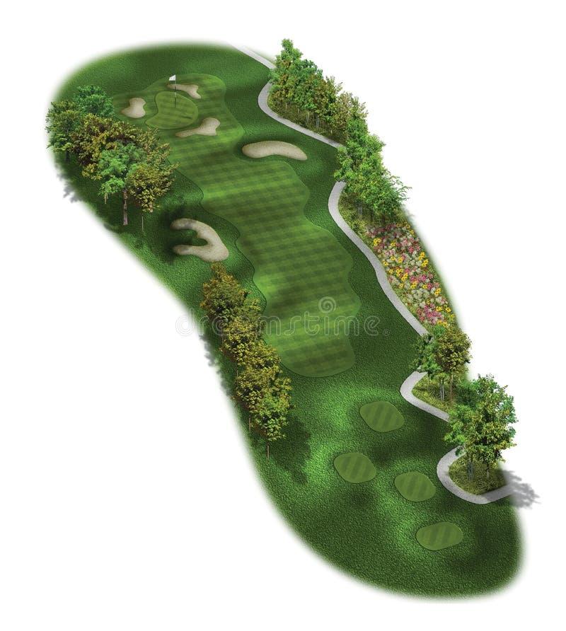 Loch-Pläne des Golfplatz-3D