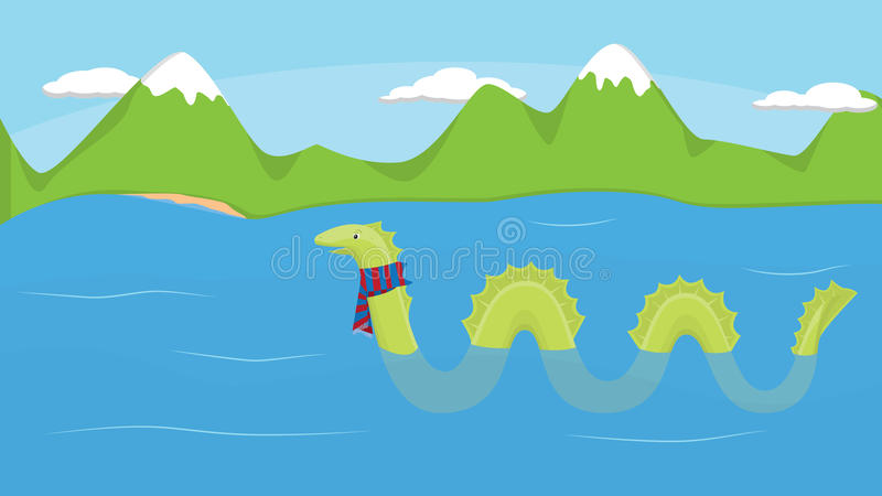 loch potwora ness royalty ilustracja