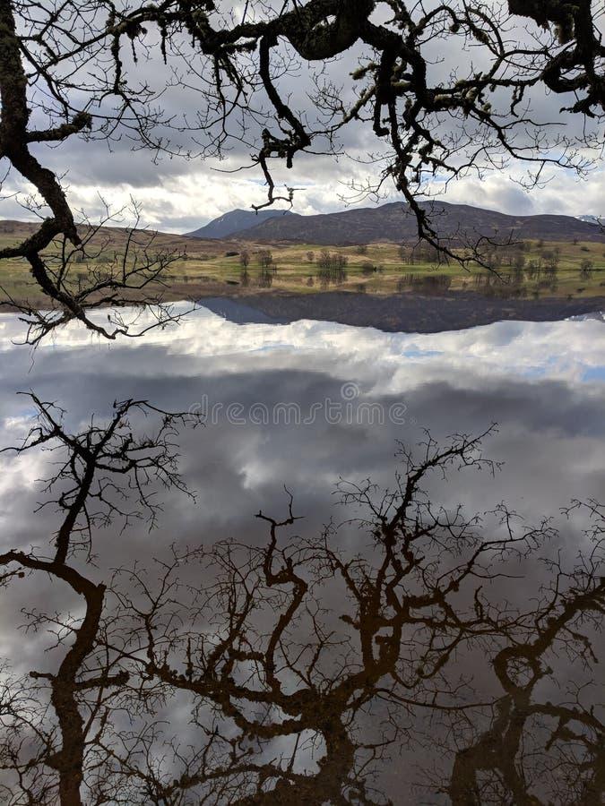 Loch Rannoch, Ecosse photos stock