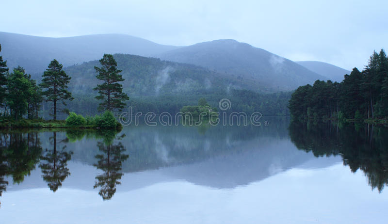 Loch reflections stock photos