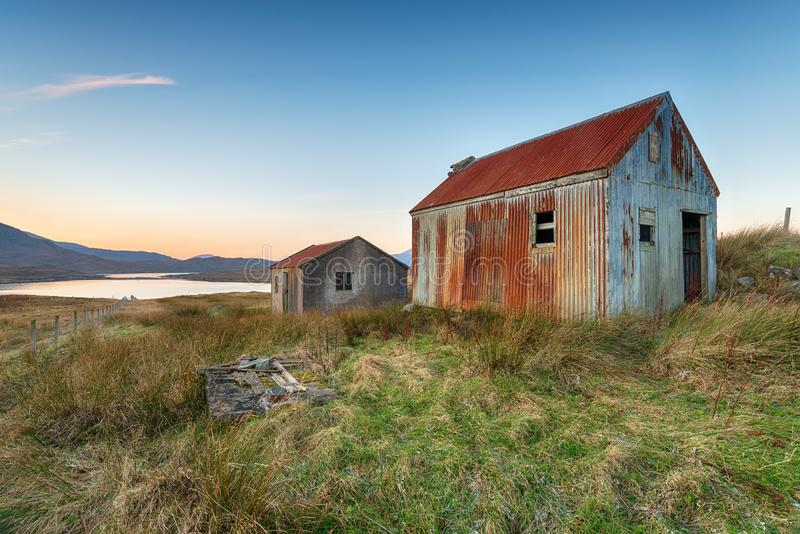 Loch Seaforth auf der Insel von Lewis in Schottland stockbilder