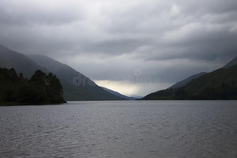 Loch Shiel, Glenfinnan Szkocja, Zjednoczone Królestwo zdjęcie royalty free