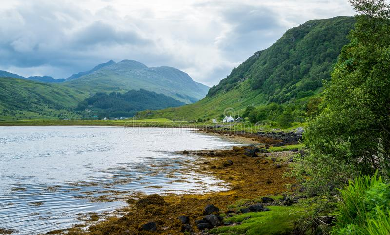 Loch Sunart, sea loch on the west coast of Scotland. Loch Sunart is a sea loch on the west coast of Scotland royalty free stock images
