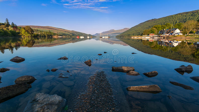 Loch Tay Reflections photographie stock libre de droits