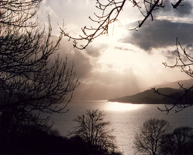 Loch Tay - Schottland stockbilder