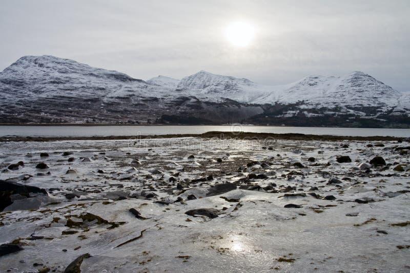 Loch Torridon, costa oeste fotografia de stock