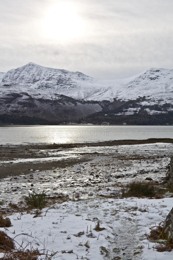 Loch Torridon, costa oeste imagem de stock