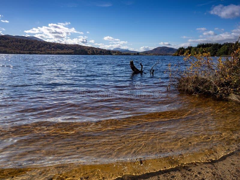 Loch Tummel, Schotland stock afbeelding