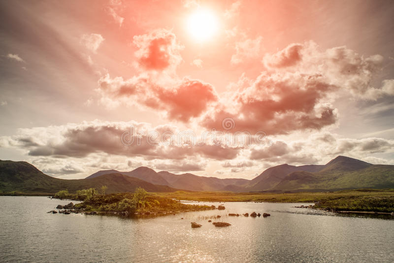 Lochan na h-Achlaise royalty free stock image