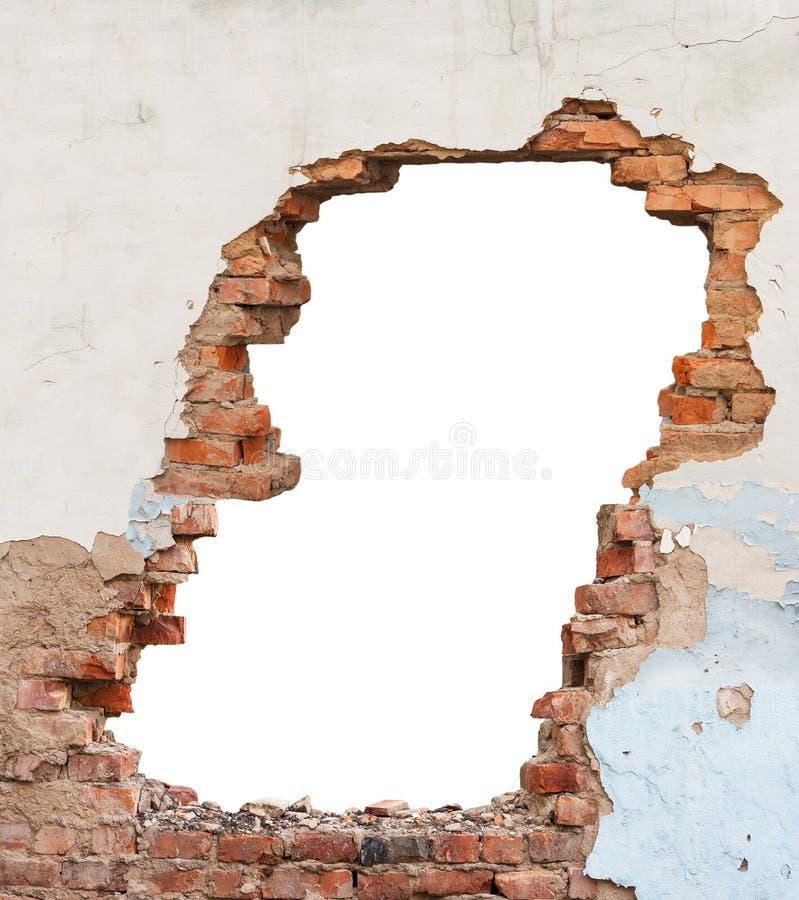 Lochbacksteinmauer stockfotos