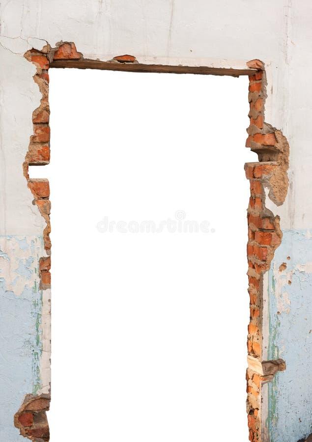 Lochbacksteinmauer lizenzfreies stockbild