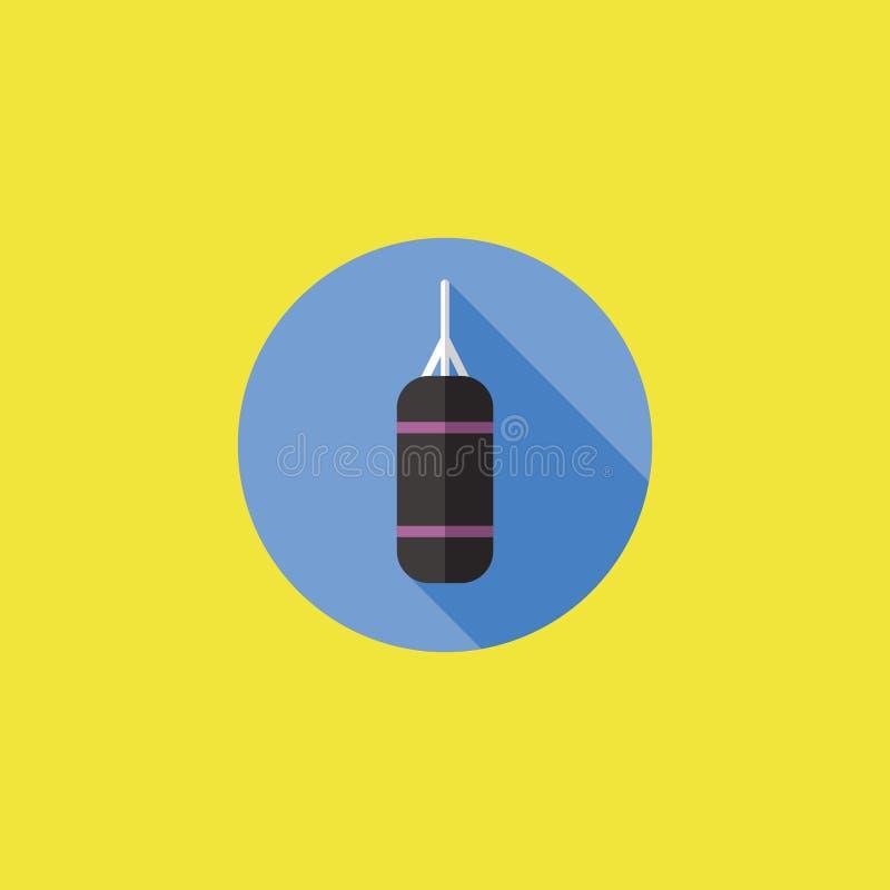 Lochender Ball-Ikonen-Vektor-Illustration lizenzfreies stockbild