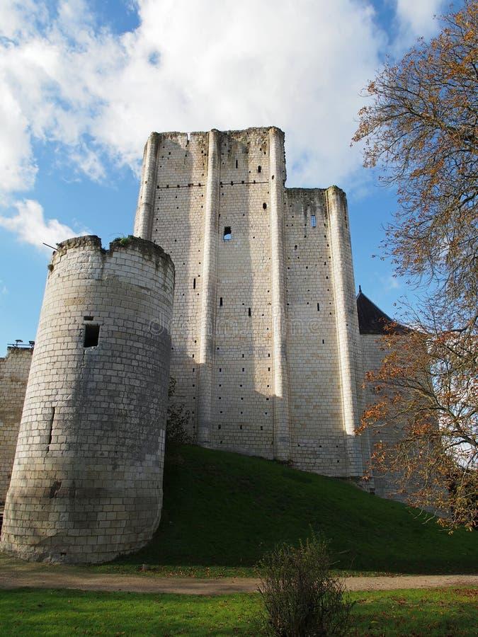 Loches设防,土牢, Loire Valley 库存照片