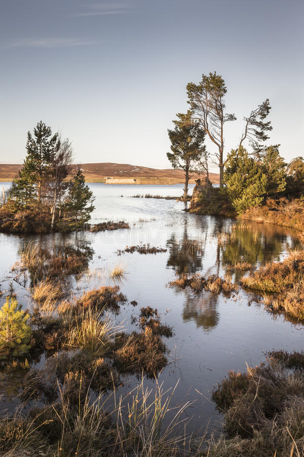 Lochindorb at Dava moor in Scotland. stock images
