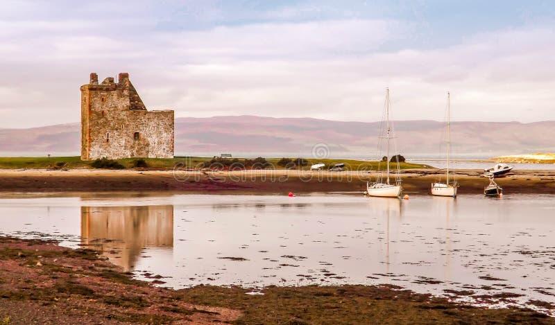 Lochranza城堡艾伦 库存图片