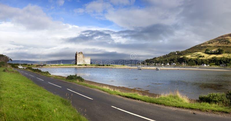 Lochranza城堡,苏格兰 免版税库存图片