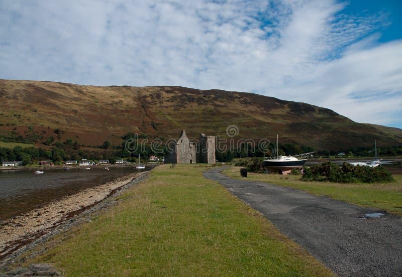 Lochranza城堡 免版税库存照片