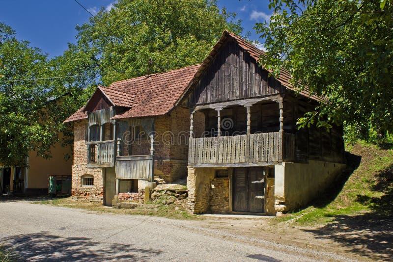 lochu historycznych domów tradycyjny wino drewniany fotografia royalty free