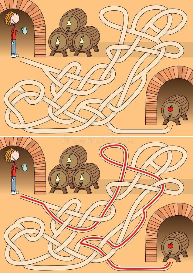 Lochu labirynt ilustracji
