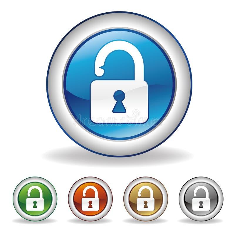 lock button stock illustration