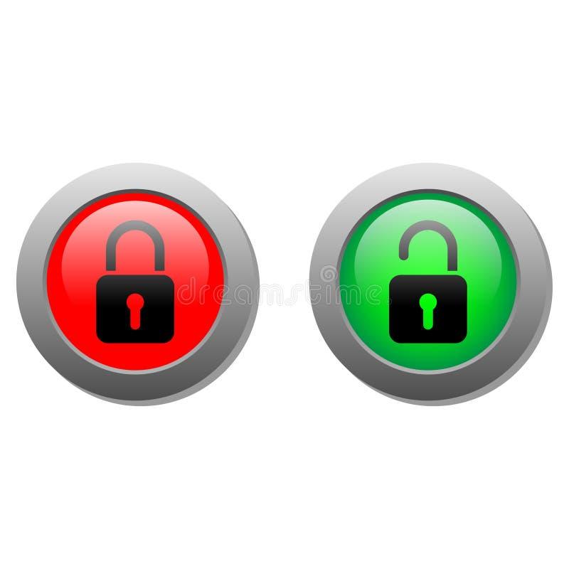 Lock Buttons Stock Illustration. Illustration Of Bright