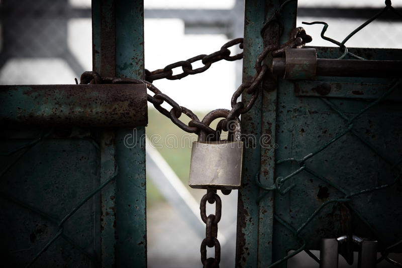 Download Lock and chain stock image. Image of abandoned, lost - 28851137