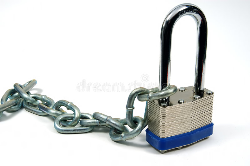 Download Lock and Chain 3 stock photo. Image of open, chain, secure - 52358