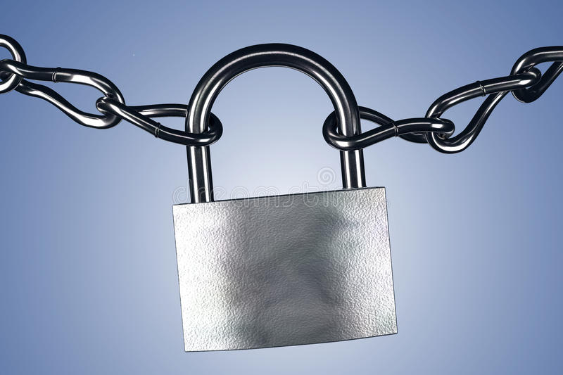Lock and chains royalty free illustration