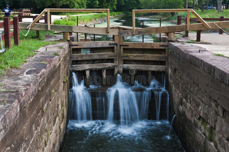 Download Lock On Chesapeake And Ohio Canal Stock Image - Image of walls, river: 25922927
