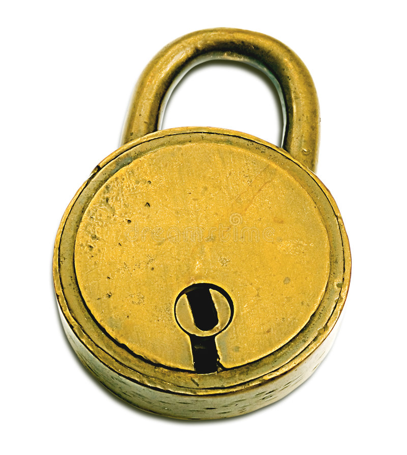 Lock (+clipping path) royalty free stock photo