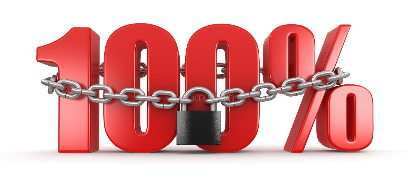 Download 100% And Lock (clipping Path Included) Stock Illustration - Image: 34716554