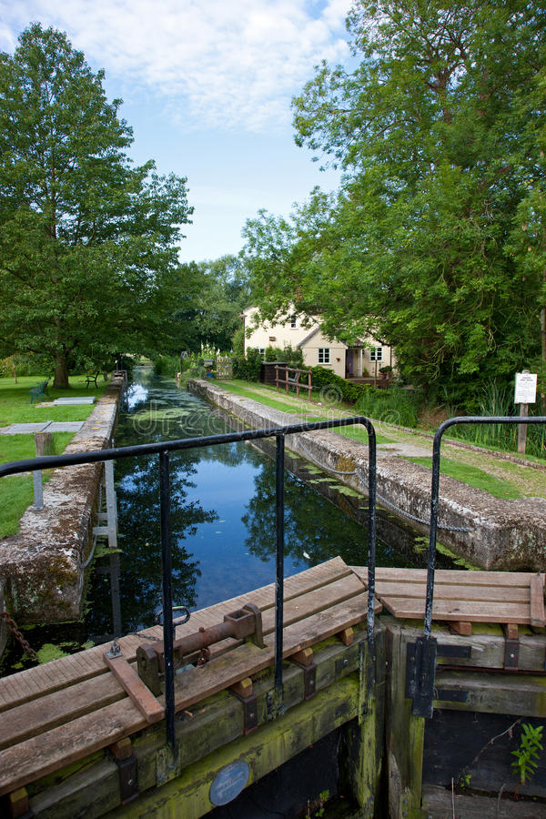 Download Lock and Cottage stock image. Image of river, historic - 20462345