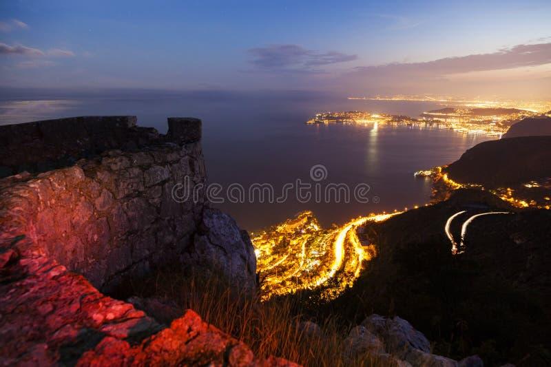 Lock-d'Ail under solnedgång arkivfoto