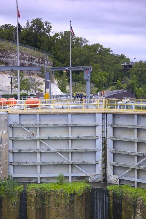 Download Lock and Dam Gates Closed stock image. Image of enclosure - 25249417