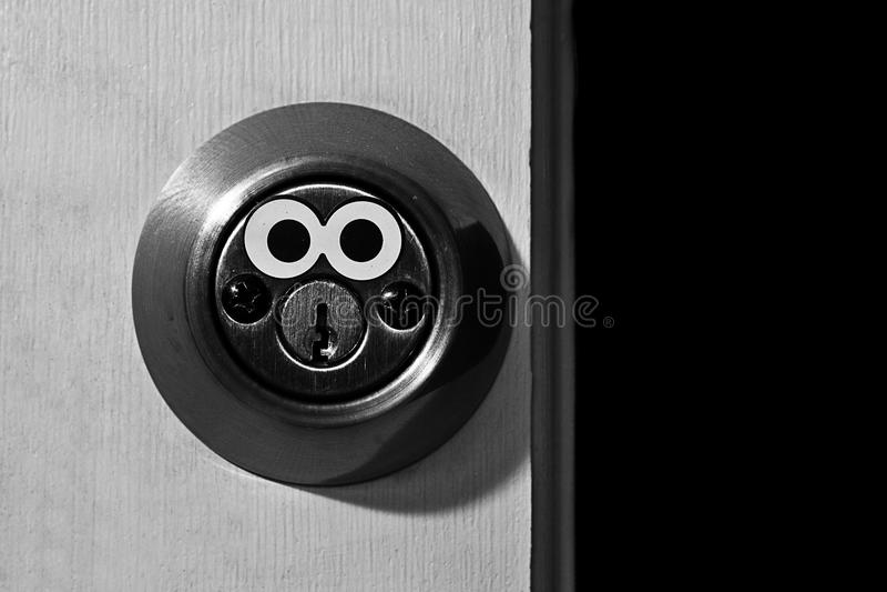 Lock with Eyes stock photos