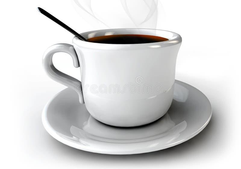 lock för kaffe 3d på tabellen på en wihtebakgrund vektor illustrationer